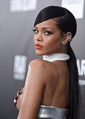 Singer Rihanna arrives at the 2014 amfAR LA Inspiration Gala at Milk Studios on October 29 2014 in Hollywood California