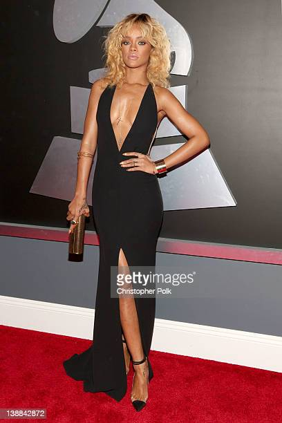 Singer Rihanna arrives at The 54th Annual GRAMMY Awards at Staples Center on February 12 2012 in Los Angeles California