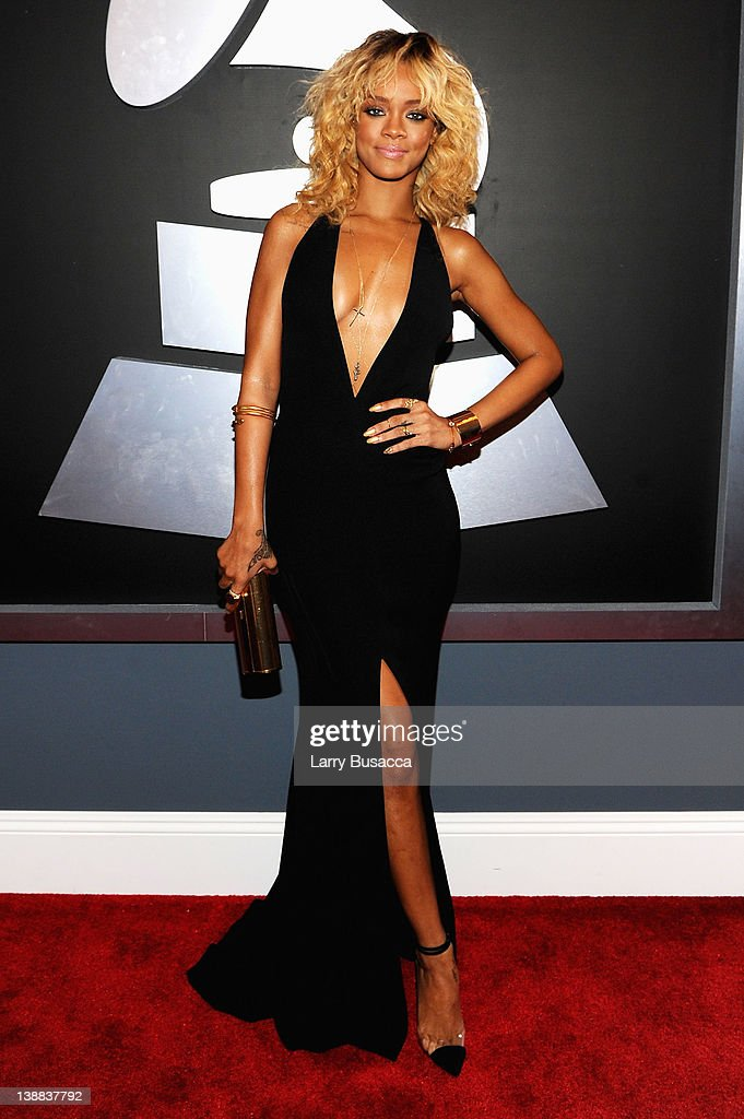 Singer Rihanna arrives at the 54th Annual GRAMMY Awards held at Staples  Center on February 12