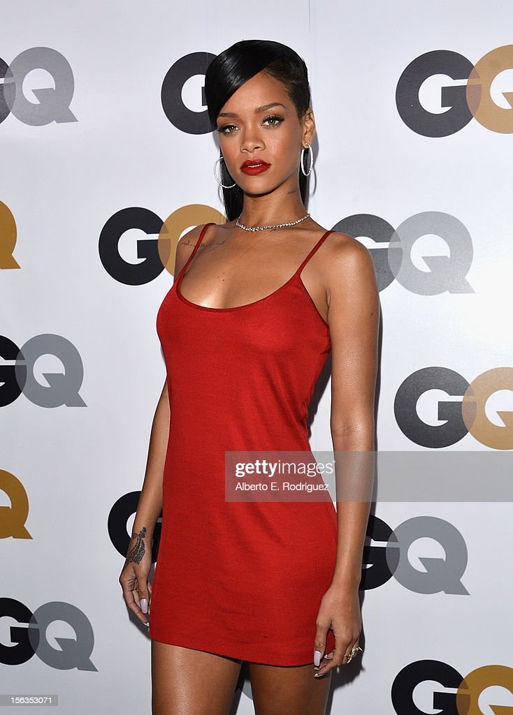 Singer <a gi-track='captionPersonalityLinkClicked' href=/galleries/search?phrase=Rihanna&family=editorial&specificpeople=453439 ng-click='$event.stopPropagation()'>Rihanna</a> arrives at the GQ Men of the Year Party at Chateau Marmont on November 13, 2012 in Los Angeles, California.