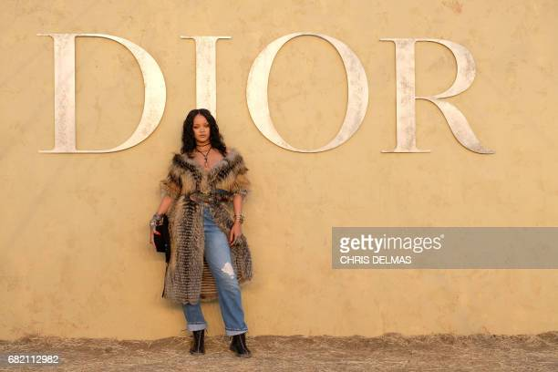 TOPSHOT Singer Rihanna arrives for the first cruise collection by Maria Grazia Chiuri for Dior show in the Upper Las Virgenes Canyon Calabasas...