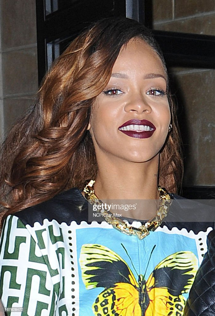 Singer <a gi-track='captionPersonalityLinkClicked' href=/galleries/search?phrase=Rihanna&family=editorial&specificpeople=453439 ng-click='$event.stopPropagation()'>Rihanna</a> as seen on April 30, 2013 in New York City.