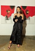 Singer Rihanna at Rihanna's 8th album artwork reveal for 'ANTI' at MAMA Gallery on October 7 2015 in Los Angeles California