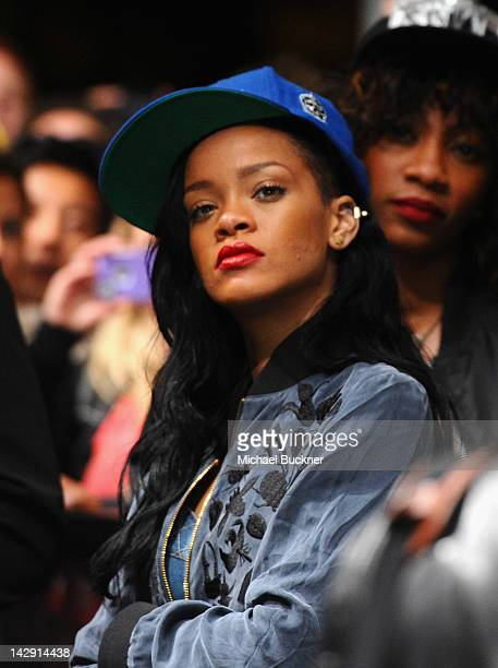 Singer Rihanna attends David Guetta performance during Day 2 of the 2012 Coachella Valley Music Arts Festival held at the Empire Polo Club on April...