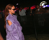 Singer Rihanna attends day 2 of the 2015 Coachella Valley Music Arts Festival at the Empire Polo Club on April 11 2015 in Indio California