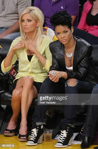 Singer Rihanna attends Game Two of the NBA Finals between the Los Angeles Lakers and the Orlando Magic at Staples Center on June 7 2009 in Los...