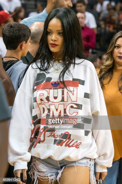 Singer Rihanna attends the 2014 Summer Classic Charity Basketball Game at Barclays Center on August 21 2014 in New York City