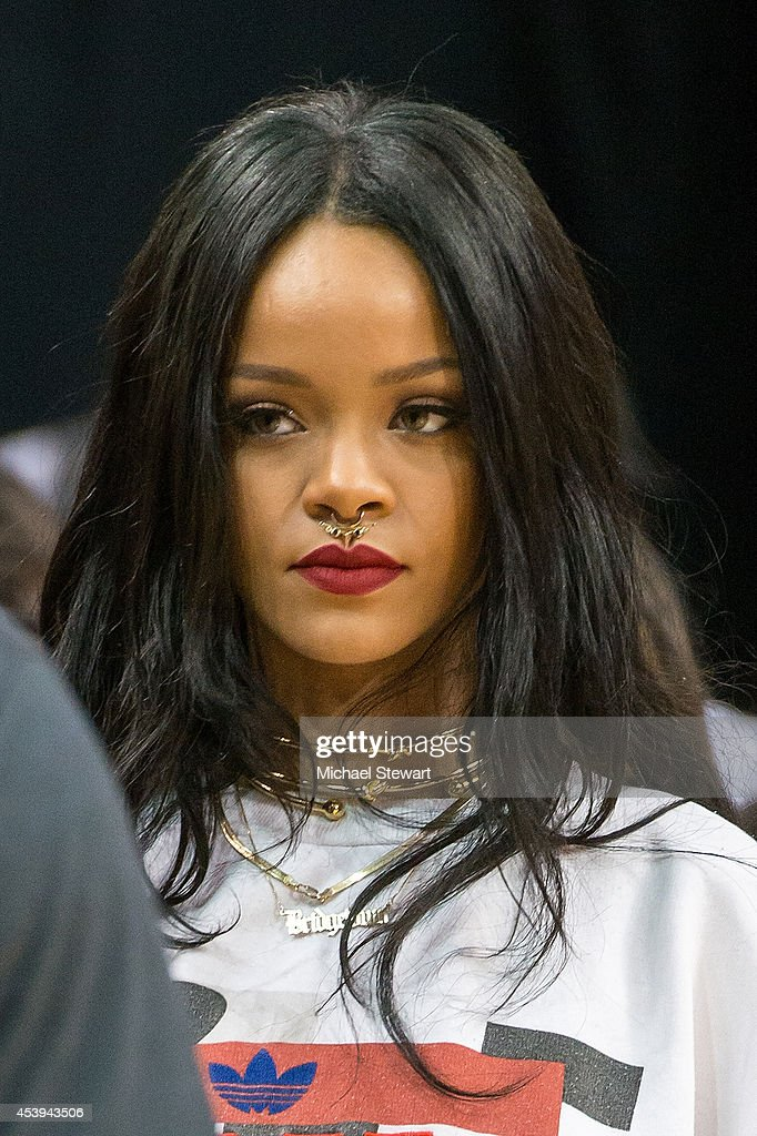 Singer Rihanna attends the 2014 Summer Classic Charity Basketball Game at Barclays Center on August 21, 2014 in New York City.