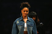 Singer Rihanna attends the 2015 NBA AllStar Game at Madison Square Garden on February 15 2015 in New York City NOTE TO USER User expressly...