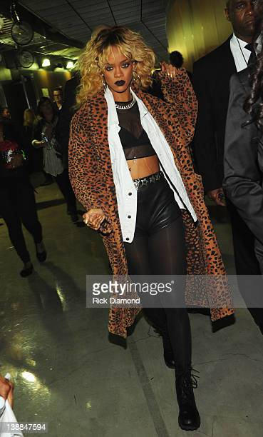 Singer Rihanna attends The 54th Annual GRAMMY Awards at Staples Center on February 12 2012 in Los Angeles California