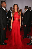 Singer Rihanna attends the 55th Annual GRAMMY Awards at STAPLES Center on February 10 2013 in Los Angeles California