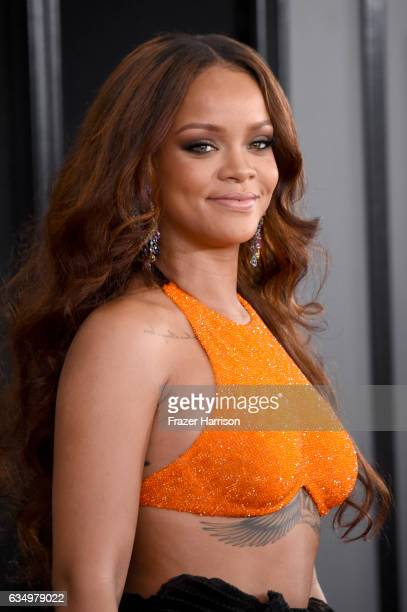 Singer Rihanna attends The 59th GRAMMY Awards at STAPLES Center on February 12 2017 in Los Angeles California