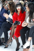Singer Rihanna attends the Christian Dior show as part of the Paris Fashion Week Womenswear Fall/Winter 20142015 on February 28 2014 in Paris France