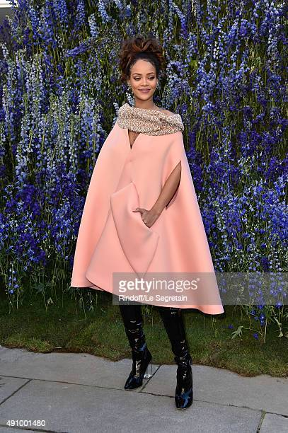 Singer Rihanna attends the Christian Dior show as part of the Paris Fashion Week Womenswear Spring/Summer 2016 on October 2 2015 in Paris France