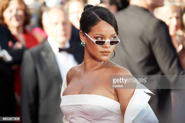 Singer Rihanna attends the 'Okja' screening during the 70th annual Cannes Film Festival at Palais des Festivals on May 19 2017 in Cannes France