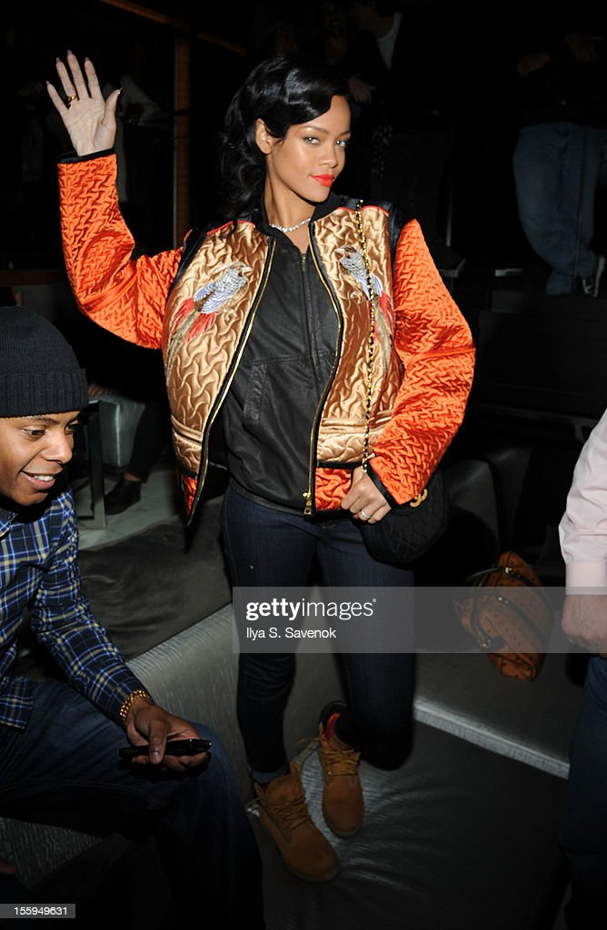 Singer Rihanna attends the prerelease preview of Rihanna's new album 'Unapologetic' at 40 / 40 Club on November 9 2012 in New York City
