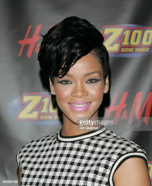 Singer Rihanna attends Z100s Jingle Ball 2008 Presented by HM at Madison Square Garden on December 12 2008 in New York City
