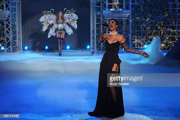 Singer Rihanna during the Victoria's Secret 2012 Fashion Show on November 7 2012 in New York City