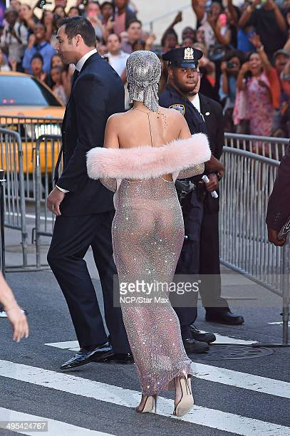 Singer Rihanna is seen arriving at The 2014 CFDA Fashion Awards on June 2 2014 in New York City