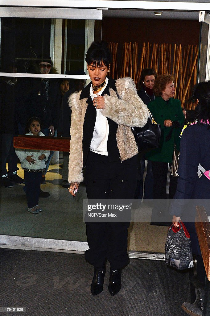 Singer Rihanna is seen on March 18, 2014 in New York City.