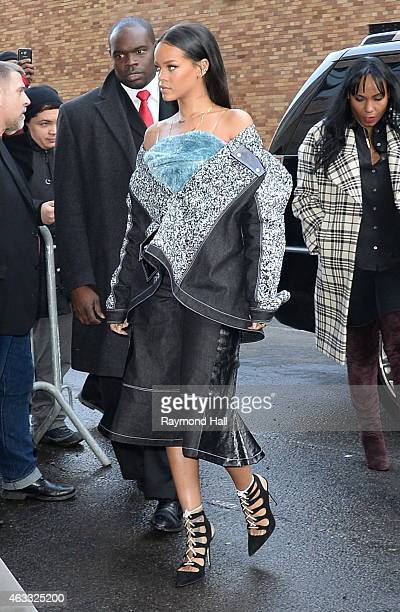 Singer Rihanna is seen outside of the adidas show on February 12 2015 in New York City
