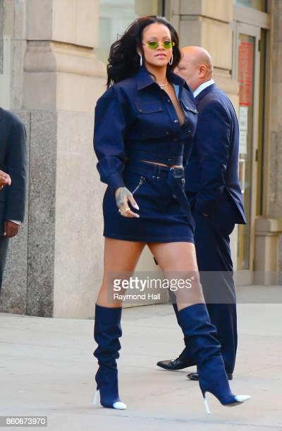 Singer Rihanna is seen walking in Soho on October 12 2017 in New York City