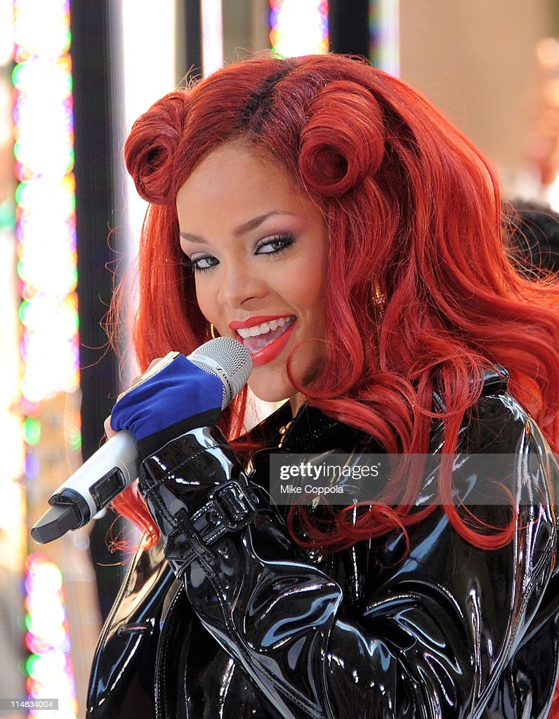 Singer Rihanna performs on NBC's 'Today' in Rockefeller Plaza on May 27 2011 in New York City