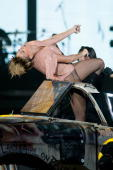 Singer Rihanna performs on stage at Palais Omnisports of Bercy on April 28 2010 in Paris France
