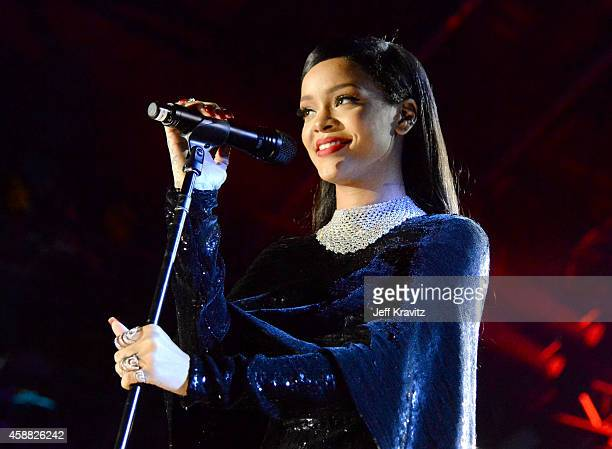 Singer Rihanna performs onstage during 'The Concert For Valor' at The National Mall on November 11 2014 in Washington DC