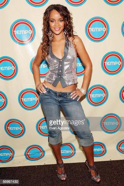 Singer Rihanna poses backstage during a MTV Networks Tempo Channel launch event at The Plantation Garden Theater October 22 2005 Christ Church...