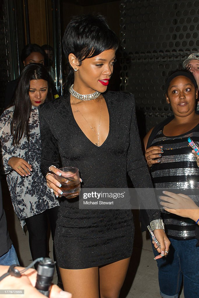 Singer Rihanna seen on the streets of Manhattan on August 25, 2013 in New York City.