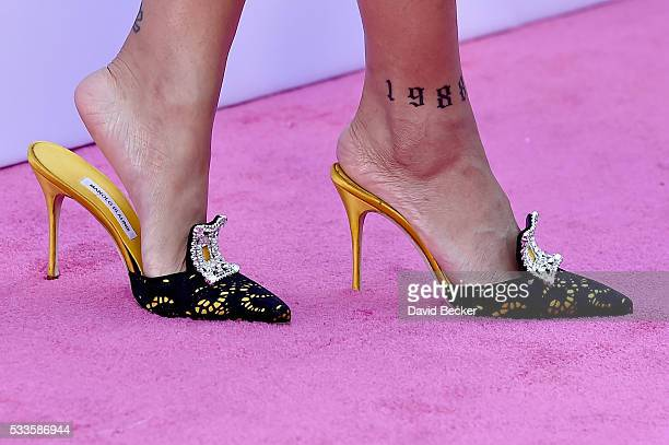 Singer Rihanna shoe and tattoo detail attends the 2016 Billboard Music Awards at TMobile Arena on May 22 2016 in Las Vegas Nevada