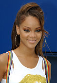 Singer Rihanna smiles during media availability on Arthur Ashe Kids Day before the start of the 2005 US Open at the USTA National Tennis Center in...