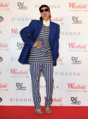 Singer Rihanna switches on the Christmas lights at Westfield Stratford City with young ambassadors from Save The Children Westfield's chosen...