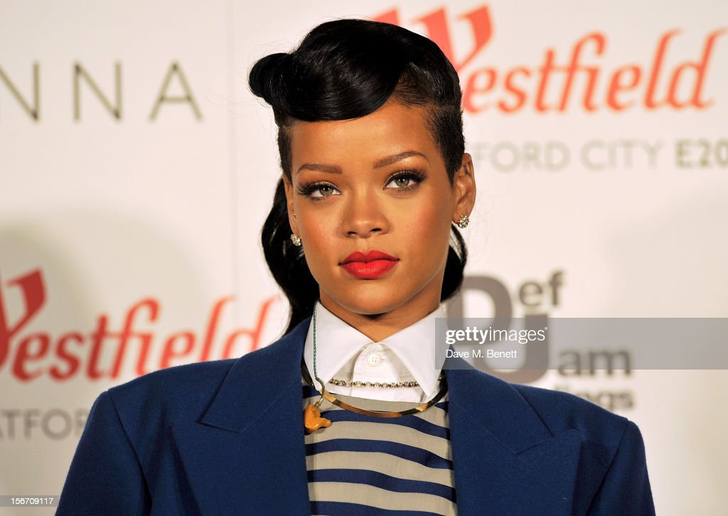 Singer <a gi-track='captionPersonalityLinkClicked' href=/galleries/search?phrase=Rihanna&family=editorial&specificpeople=453439 ng-click='$event.stopPropagation()'>Rihanna</a> switches on the Christmas lights at Westfield Stratford City with young ambassadors from Save The Children, Westfield's chosen Christmas charity, on November 19, 2012 in London, England.