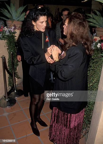 Singer Rita Coolidge and actress Valerie Harper attend the Grand Opening Celebration of Valerie Harper and husband Tony Cacciotti's Restaurant Regina...