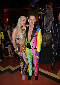 Singer Rita Ora and designer Jeremy Scott attend the Jeremy Scott and adidas Originals VMA's After Party with Spirits Sponsored By Svedka Vodka at...