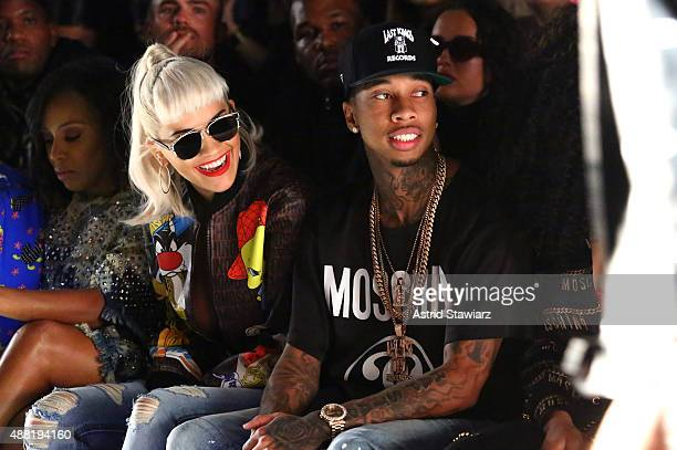 Singer Rita Ora and Rapper Tyga at Jeremy Scott with Kagome Greens at Skylight at Moynihan Station on September 14 2015 in New York City