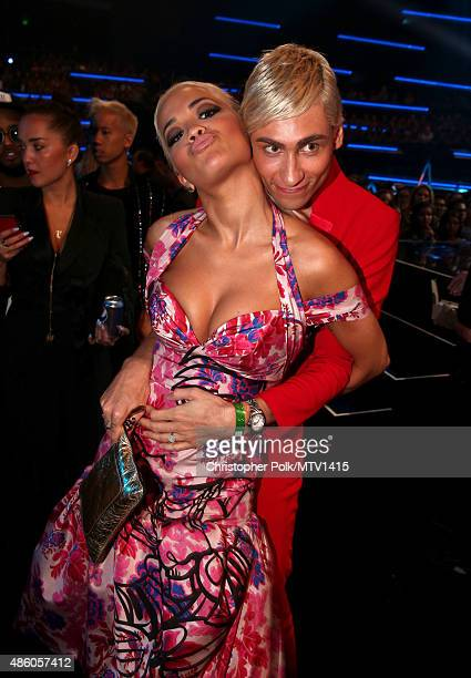 Singer Rita Ora and stylist and designer Kyle De'volle attend the 2015 MTV Video Music Awards at Microsoft Theater on August 30 2015 in Los Angeles...
