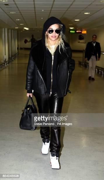 Singer Rita Ora arrives at Heathrow Airport from Thailand