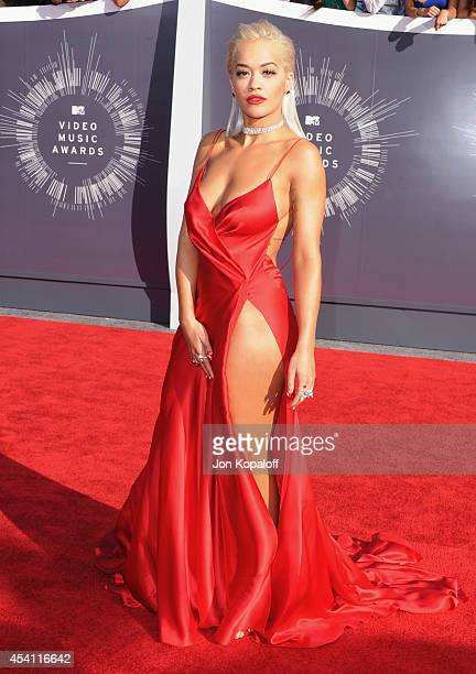 Singer Rita Ora arrives at the 2014 MTV Video Music Awards at The Forum on August 24 2014 in Inglewood California