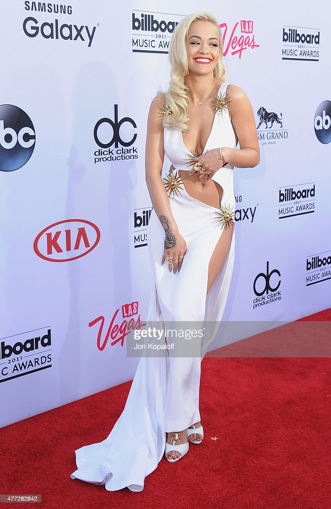 Singer Rita Ora arrives at the 2015 Billboard Music Awards at MGM Garden Arena on May 17, 2015 in Las Vegas, Nevada.