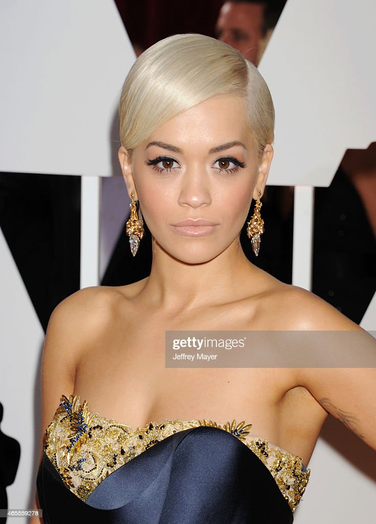 Singer Rita Ora arrives at the 87th Annual Academy Awards at Hollywood Highland Center on February 22 2015 in Hollywood California