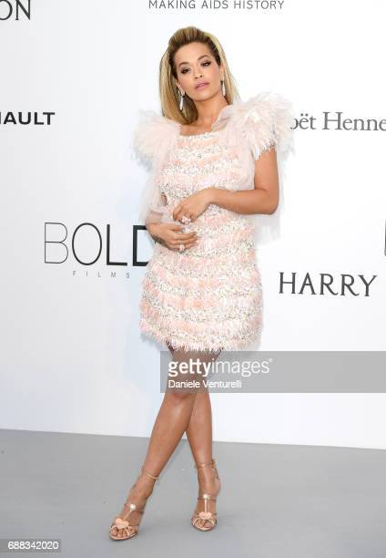 Singer Rita Ora arrives at the amfAR Gala Cannes 2017 at Hotel du CapEdenRoc on May 25 2017 in Cap d'Antibes France