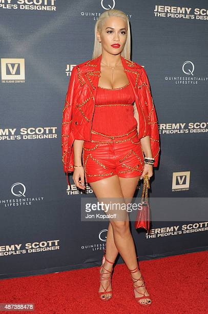 Singer Rita Ora arrives at the Premiere Of The Vladar Company's 'Jeremy Scott The People's Designer' at TCL Chinese 6 Theatres on September 8 2015 in...