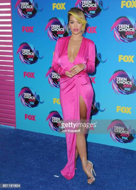 Singer Rita Ora arrives at the Teen Choice Awards 2017 at Galen Center on August 13 2017 in Los Angeles California