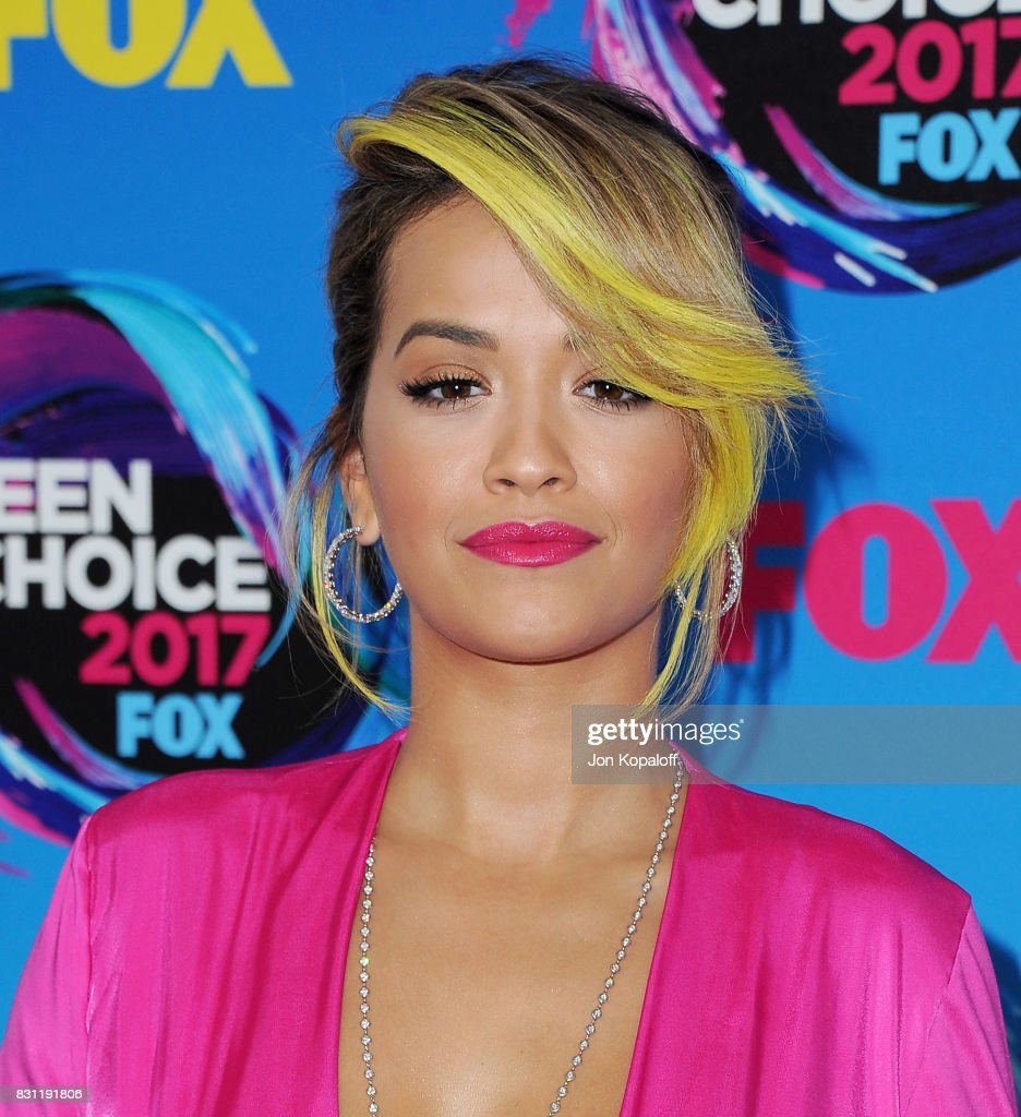 Singer Rita Ora arrives at the Teen Choice Awards 2017 at Galen Center on August 13, 2017 in Los Angeles, California.