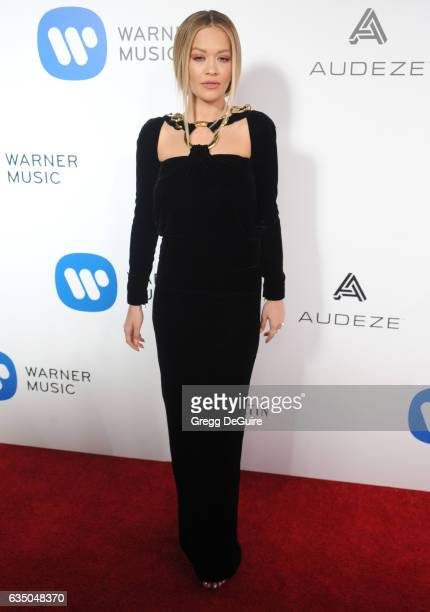 Singer Rita Ora arrives at Warner Music Group's Annual GRAMMY Celebration at Milk Studios on February 12 2017 in Hollywood California