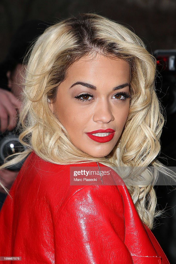 Singer <a gi-track='captionPersonalityLinkClicked' href=/galleries/search?phrase=Rita+Ora&family=editorial&specificpeople=5686485 ng-click='$event.stopPropagation()'>Rita Ora</a> arrives to attend the Chanel Spring/Summer 2013 Haute-Couture show as part of Paris Fashion Week at Grand Palais on January 22, 2013 in Paris, France.