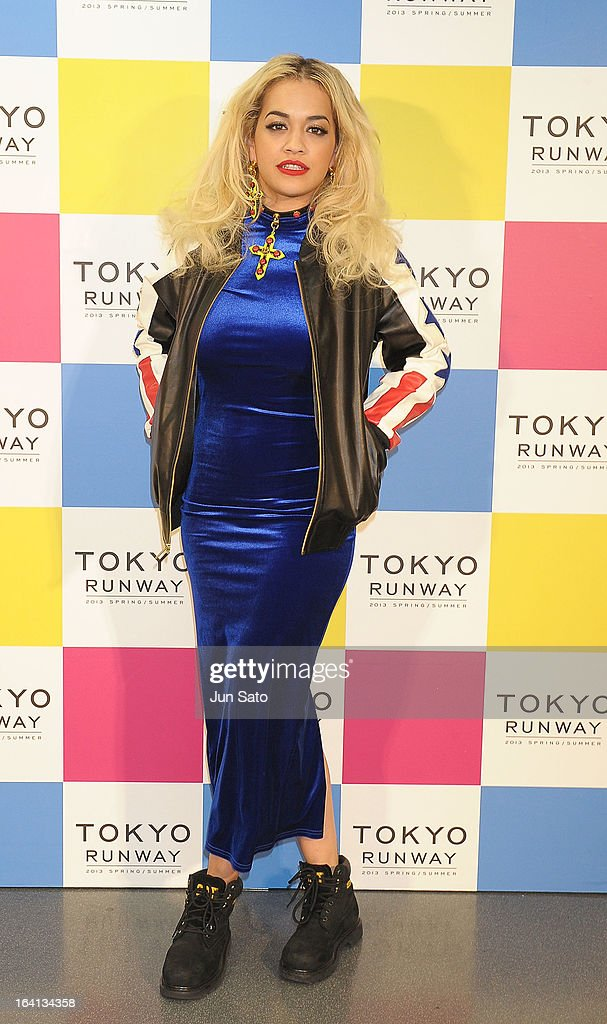 Singer <a gi-track='captionPersonalityLinkClicked' href=/galleries/search?phrase=Rita+Ora&family=editorial&specificpeople=5686485 ng-click='$event.stopPropagation()'>Rita Ora</a> attends a photo call during the Tokyo Runway 2013 S/S at Yoyogi National Gymnasium on March 20, 2013 in Tokyo, Japan.
